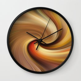 Abstract image composed of colored lines that create spirals Wall Clock