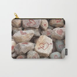 Heavy Valentine Hearts, Hand Drawn Art Print Carry-All Pouch