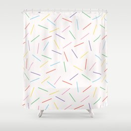 Hand drawn vector tiny confetti sprinkles Shower Curtain