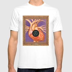 Hole in Art Mens Fitted Tee MEDIUM White