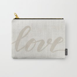 Valentine's Day Watercolor Love – white Carry-All Pouch
