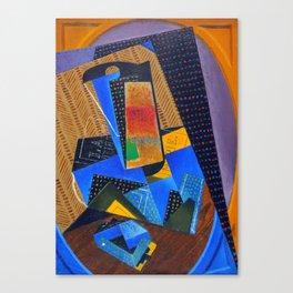"""Juan Gris """"Verre et carte à jouer (Glass and playing card)"""" Canvas Print"""