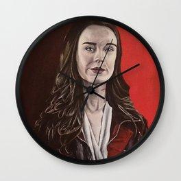 Abigail, acrylic painting Wall Clock