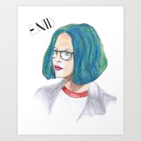 ghost world Art Prints featuring Ghost World by holy crow