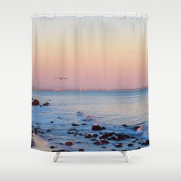 Gliding in Twilight Shower Curtain