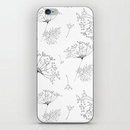 Umbel flowers repeat iPhone Skin