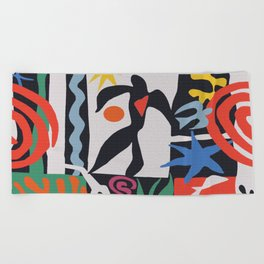 inspired to Matisse (black) Beach Towel