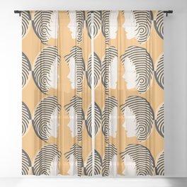 Gemini I Yellow and Black I Sunsign Sheer Curtain
