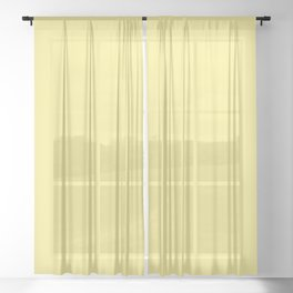 Daffodil Yellow - Solid Color Collection Sheer Curtain