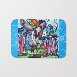 Garden Of The Blue Cat Fairy Bath Mat