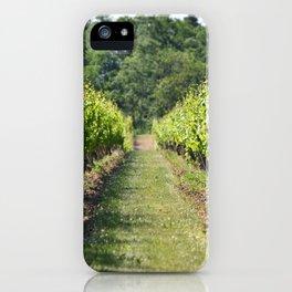 Vineyard Path iPhone Case