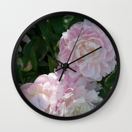 pink puffs Wall Clock