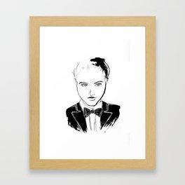 BALLROOM GIRL w BOWTIE Framed Art Print