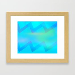 Teal Wave Framed Art Print