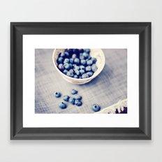 Fresh Blueberries Kitchen Art Framed Art Print