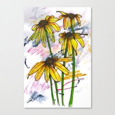 Dancing Daisies Canvas Print