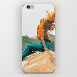 Live Free, Freedowm Woman Empower Painting, Fashion Female Human Rights iPhone Skin