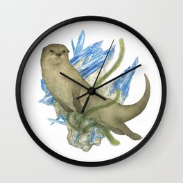 River Otter and Kyanite Wall Clock
