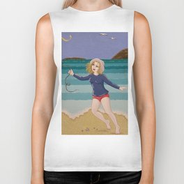 Seaside Kite Flight Biker Tank