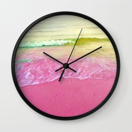Crystal Waves Wall Clock