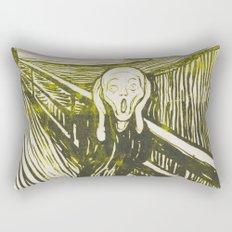 The Scream's Haze (yellow) Rectangular Pillow