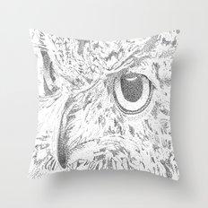 Watch Owl  Throw Pillow
