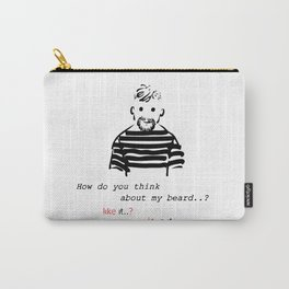 Bearded man-2 Carry-All Pouch