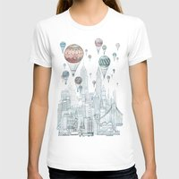 balloons T-shirts featuring Voyages Over New York by David Fleck