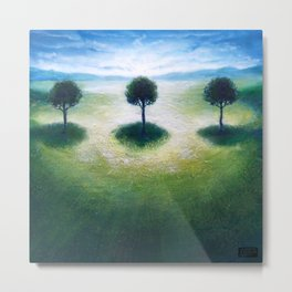 Treelogy 3 Metal Print