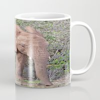 baby elephant Mugs featuring Baby Elephant by Lynn Bolt