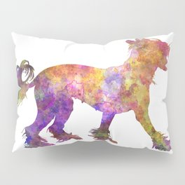 Chinese crested dog 01 in watercolor Pillow Sham