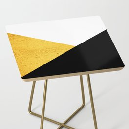 Gold & Black Geometry Side Table