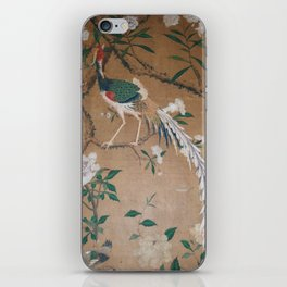 Antique French Chinoiserie in Tan & White iPhone Skin