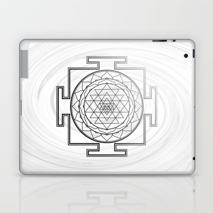 Swirly Shree Yantra Laptop & iPad Skin by nuiish