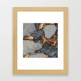 GEMSTONE GREY & GOLD Framed Art Print