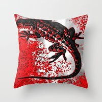 jenny liz rome Throw Pillows featuring Liz by B.D.Meredith
