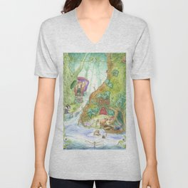 The Wind in the Willows Unisex V-Neck