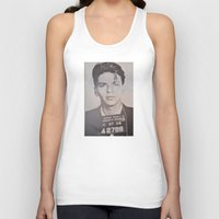 frank sinatra Tank Tops featuring Frank Sinatra Mugshot (Front)  by All Surfaces Design