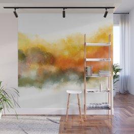 Soft Marigold Pastel Abstract Wall Mural