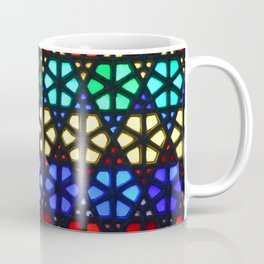 Geometric Stained Glass Coffee Mug