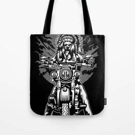 Indian Chief Motorcycle Tote Bag