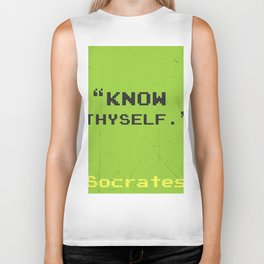 Know thyself. Socrates quote Biker Tank