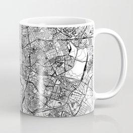Madrid White Map Coffee Mug
