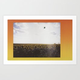 Scenic Sunflowers Art Print