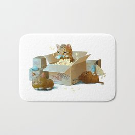 Happy kittens Bath Mat
