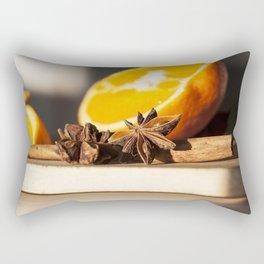 Appelsin Stjerne Rectangular Pillow