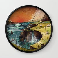 ruben ireland Wall Clocks featuring Ireland by Taylor Rose