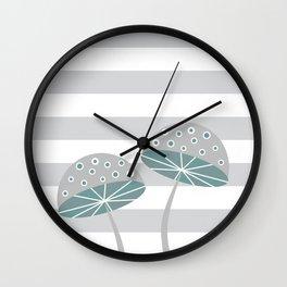 Romantic mushrooms Wall Clock