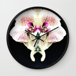 Orchid Mirror Wall Clock