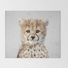 Baby Cheetah - Colorful Throw Blanket